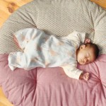 せんべい座布団!おしゃれな円形クッションでベビーも快適に寝られる