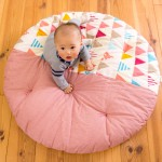 直径1mのまんまるせんべい座布団!ベビーのプレイスペース、お昼寝、おむつ替えに